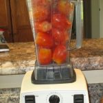 Vitamix with tomatoes