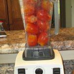 Vitamix with tomatoes