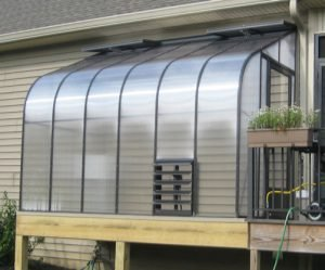 Evangeline Polycarbonate Lean To Greenhouse