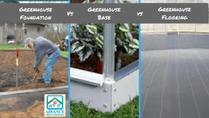 greenhouse foundation vs base vs flooring
